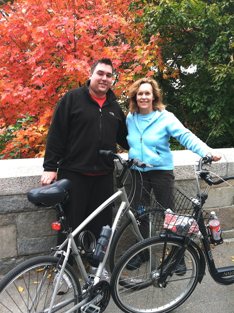 Greg and Lorraine along Hudson River Bikeway