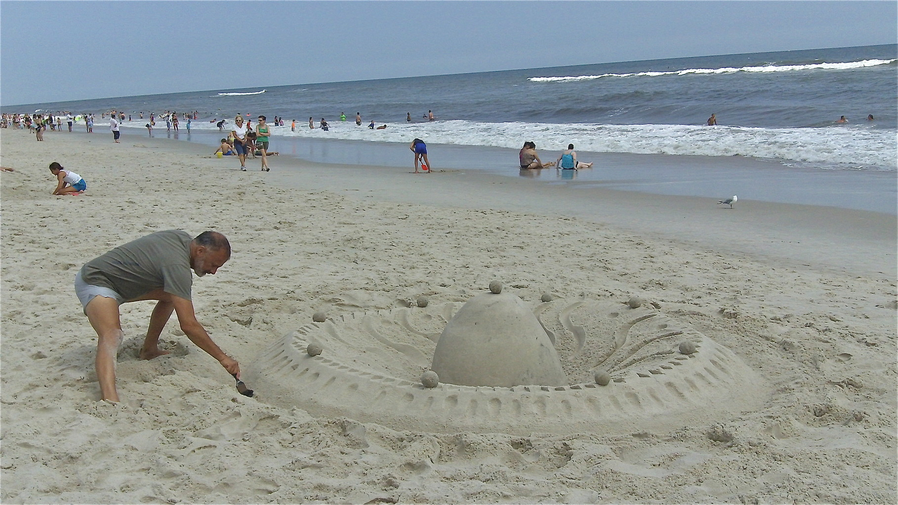 Strange non-castle structure in the sand at Jones Beach...