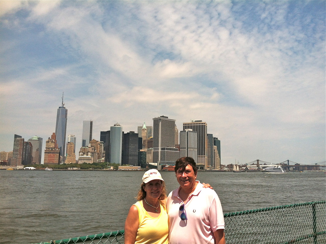 Lorraine & John, 90 degrees, July, 2013, Governor's Island