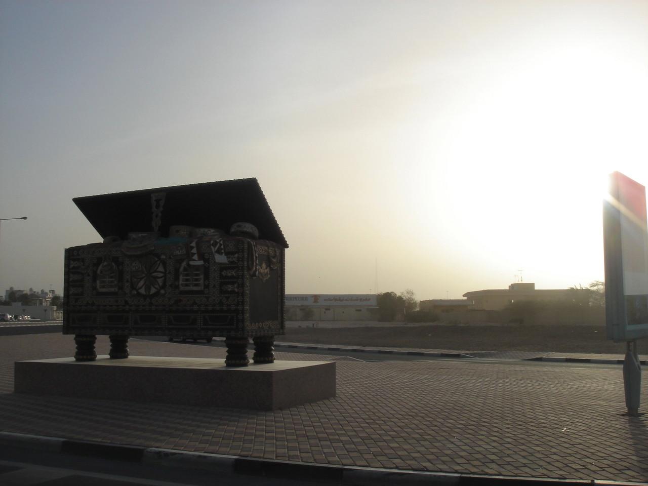chest near highway, Qatar