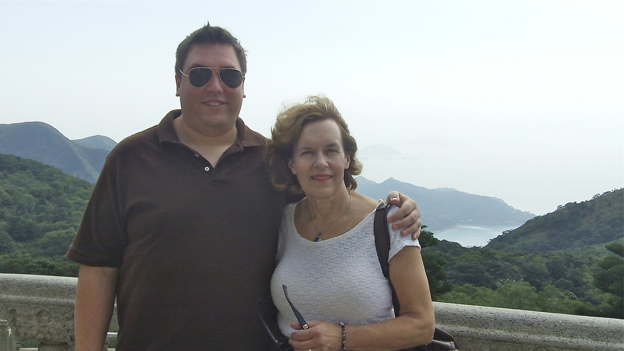 Greg & Lorraine at the top of Big Buddha