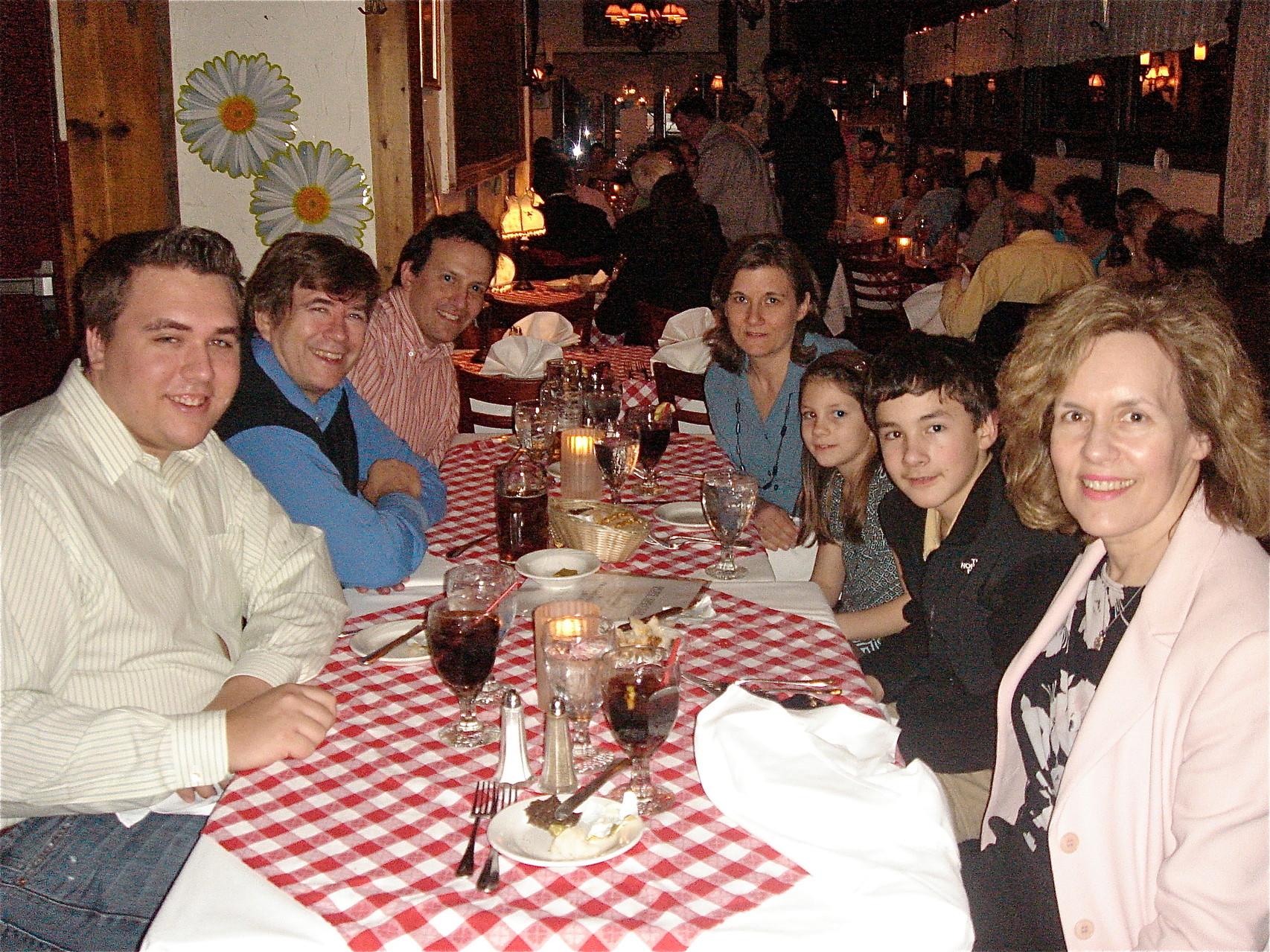 2009? Heidelberg Rest. NYC Greg, John, Nick, Cyndi, Sara, Trevan, Lorraine