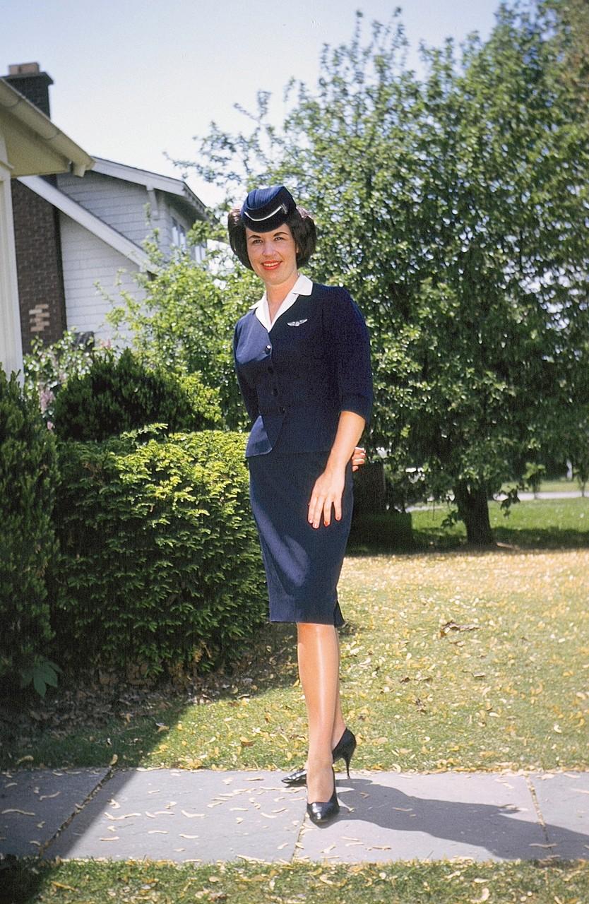 Barbara Gudas (George & Gay's daughter) ~late 1950s  at 116 Lockwood Rd, Syracuse, visiting Albert & Eleanor Gudas