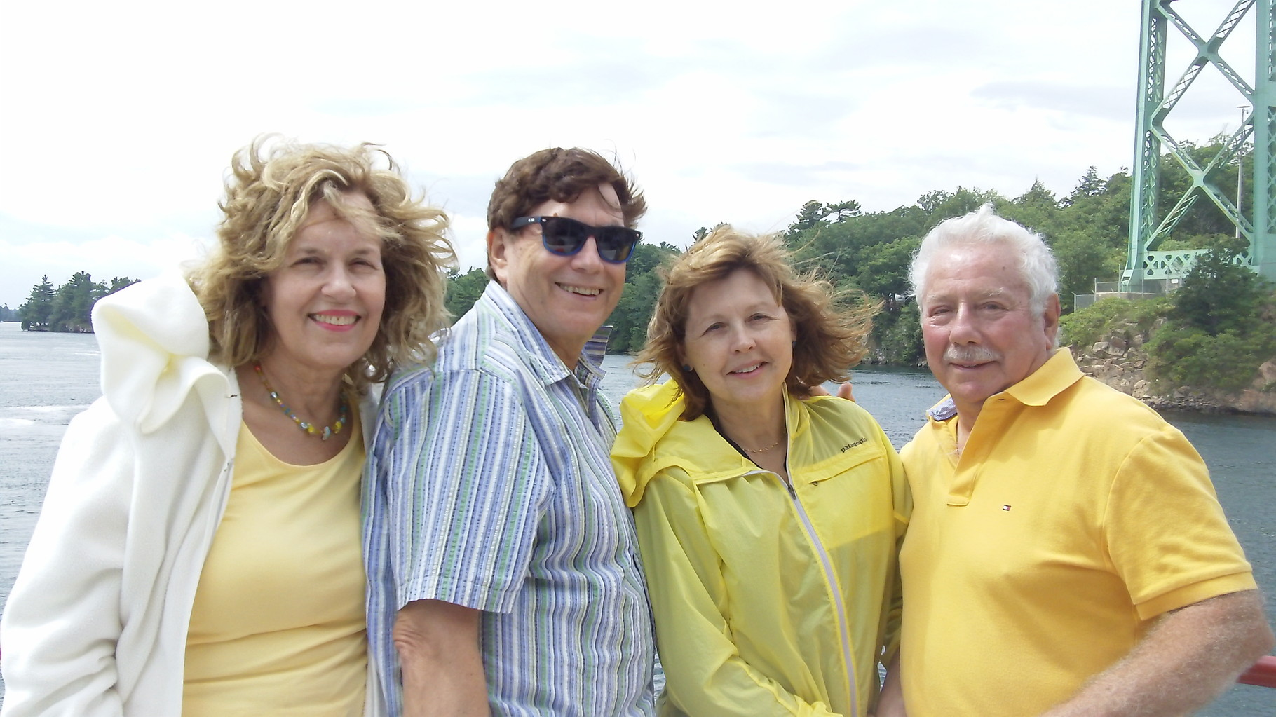Lorraine, John, Barbara and Don Fischman, Thousand Islands, 2015