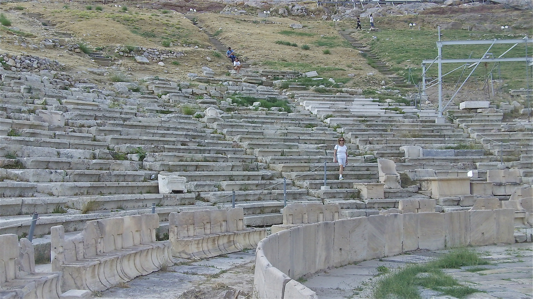 Lorraine in the Odeon of Pericles, near the theatre of Dionysus, base of the Acropolis