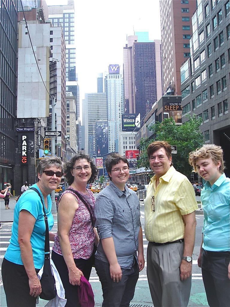 Cindy, Ann, Emilea, John, & Kathleen, Broadway, NYC  6-16-2013