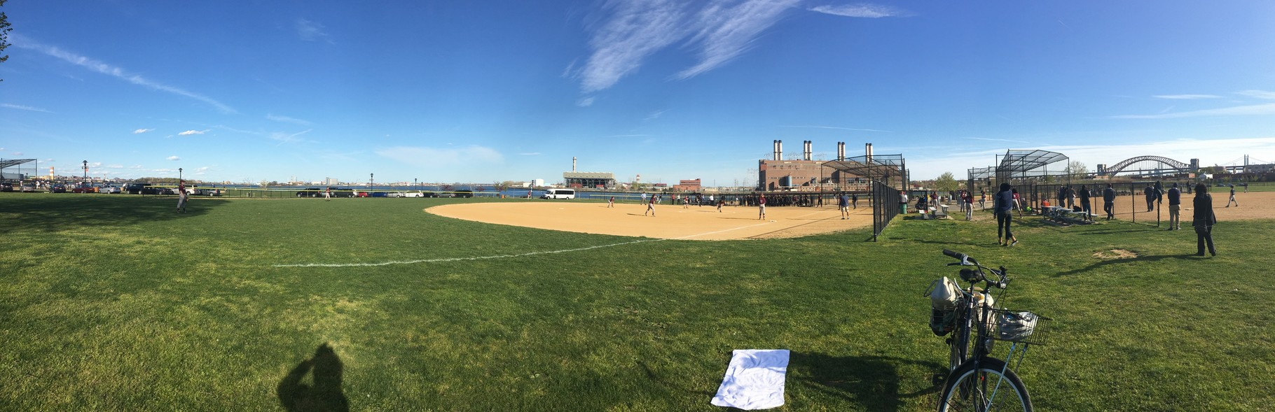 Softball game at Randall's Island, April 19, 2016