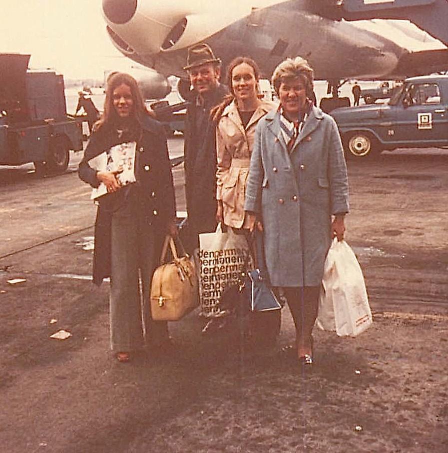 Celeste, Al, Lorraine, Eleanor Gudas, 1973 trip to Copenhagen