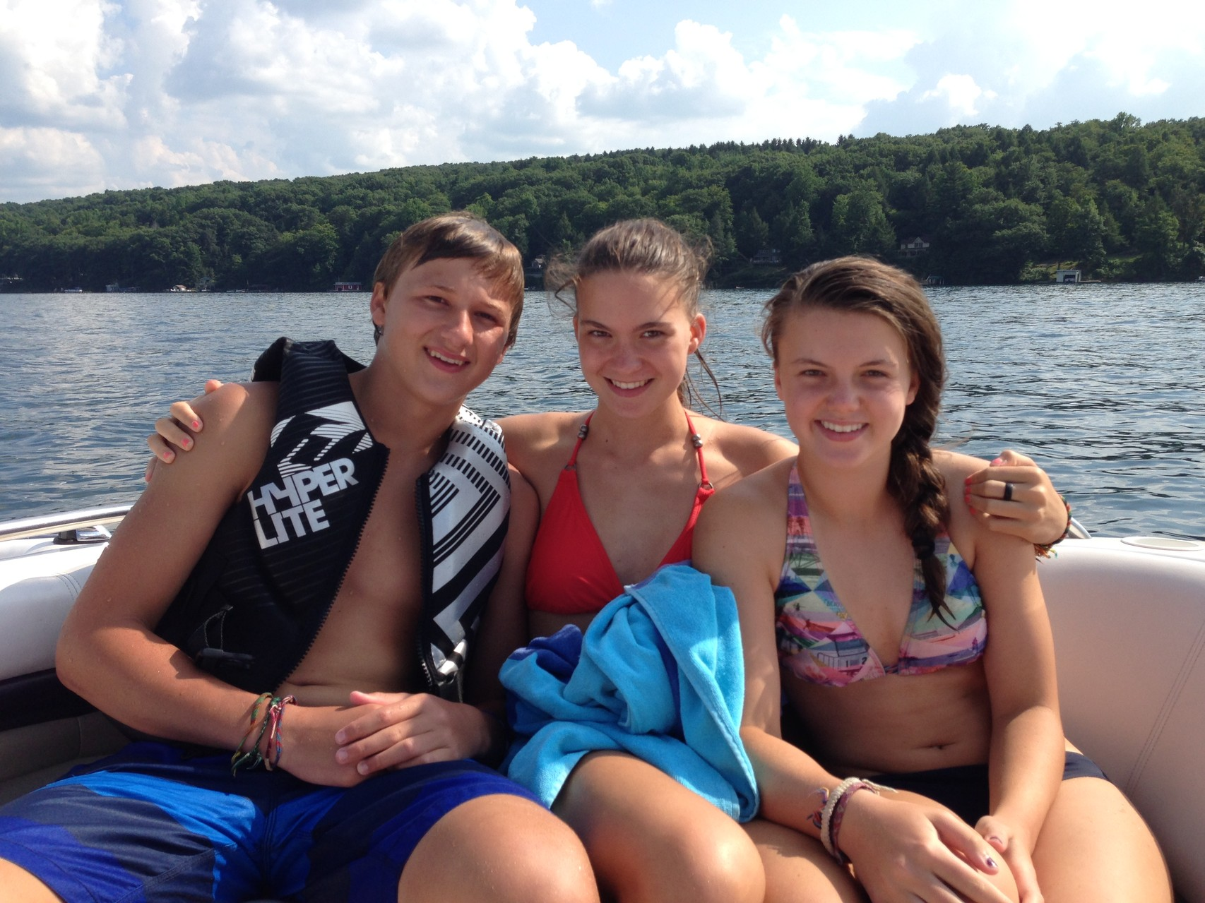 Jack, Ellie, & Kate, August, 2014 Waterskiing