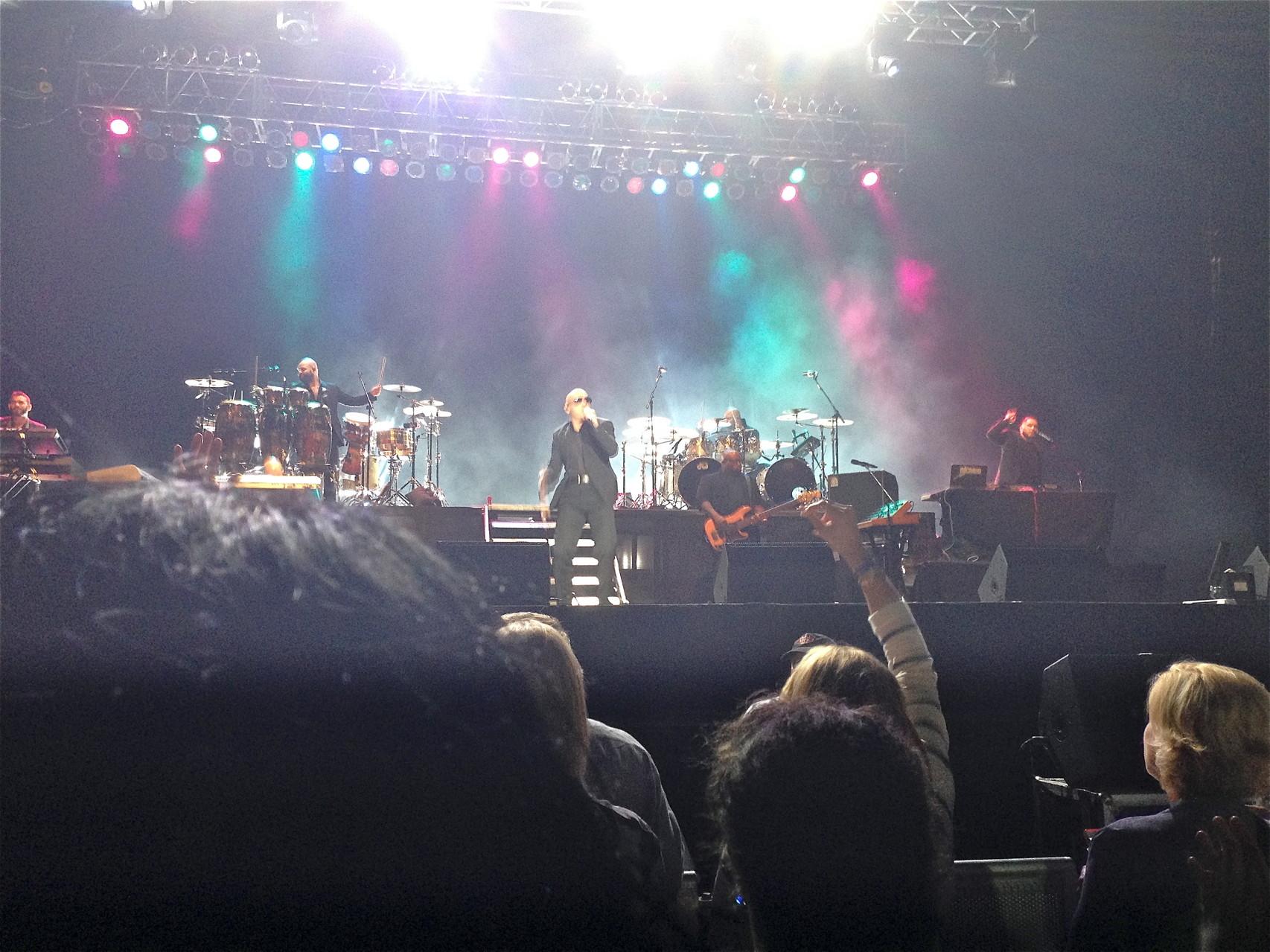 Celeste at Pitbull concert