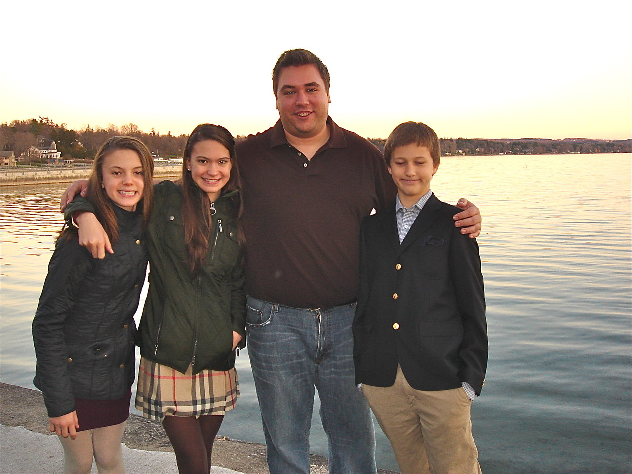 The cousins Kate, Ellie, Greg, & Jack, Skaneateles Lake.