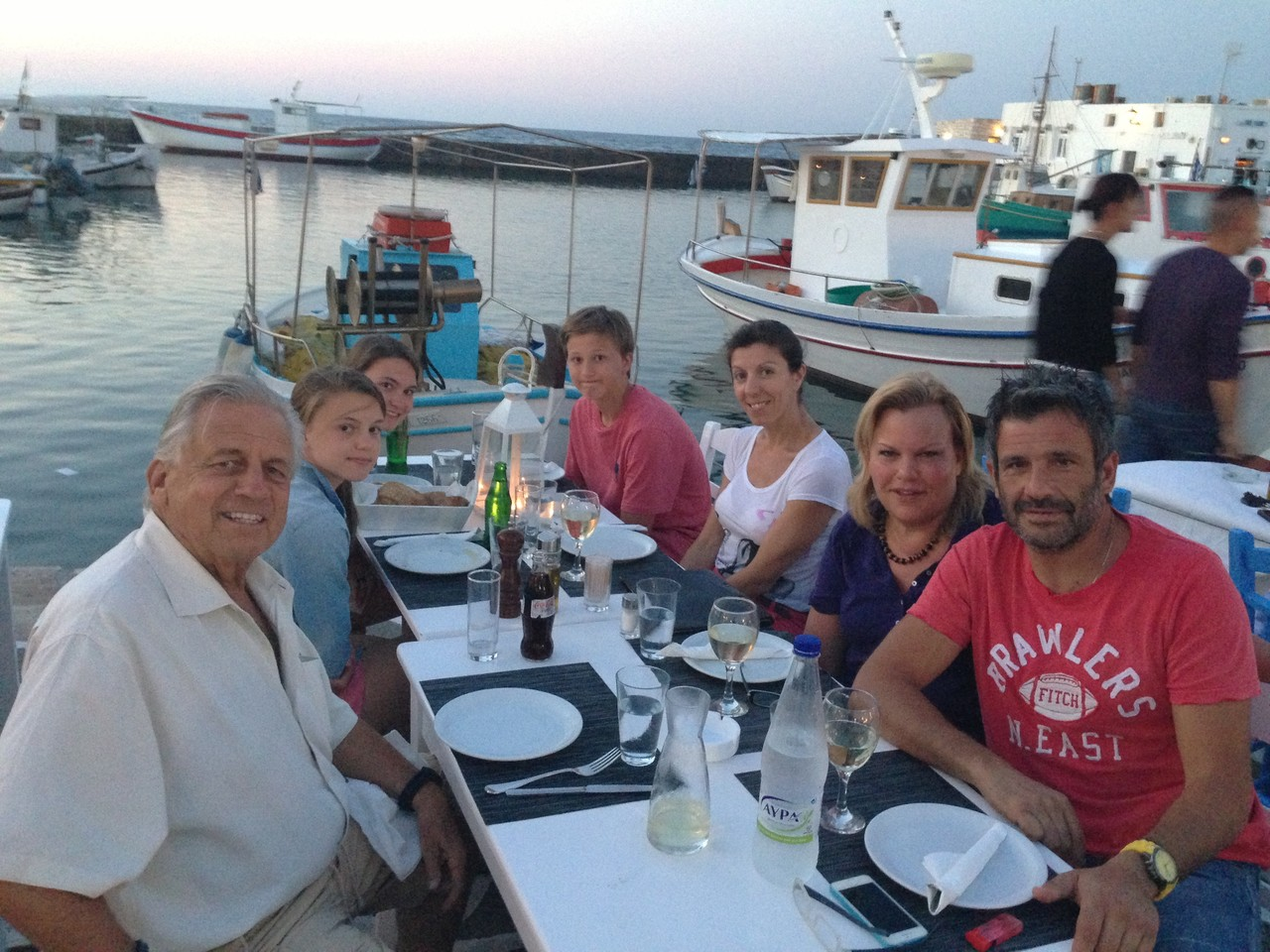 dinner with the skipper, Paros
