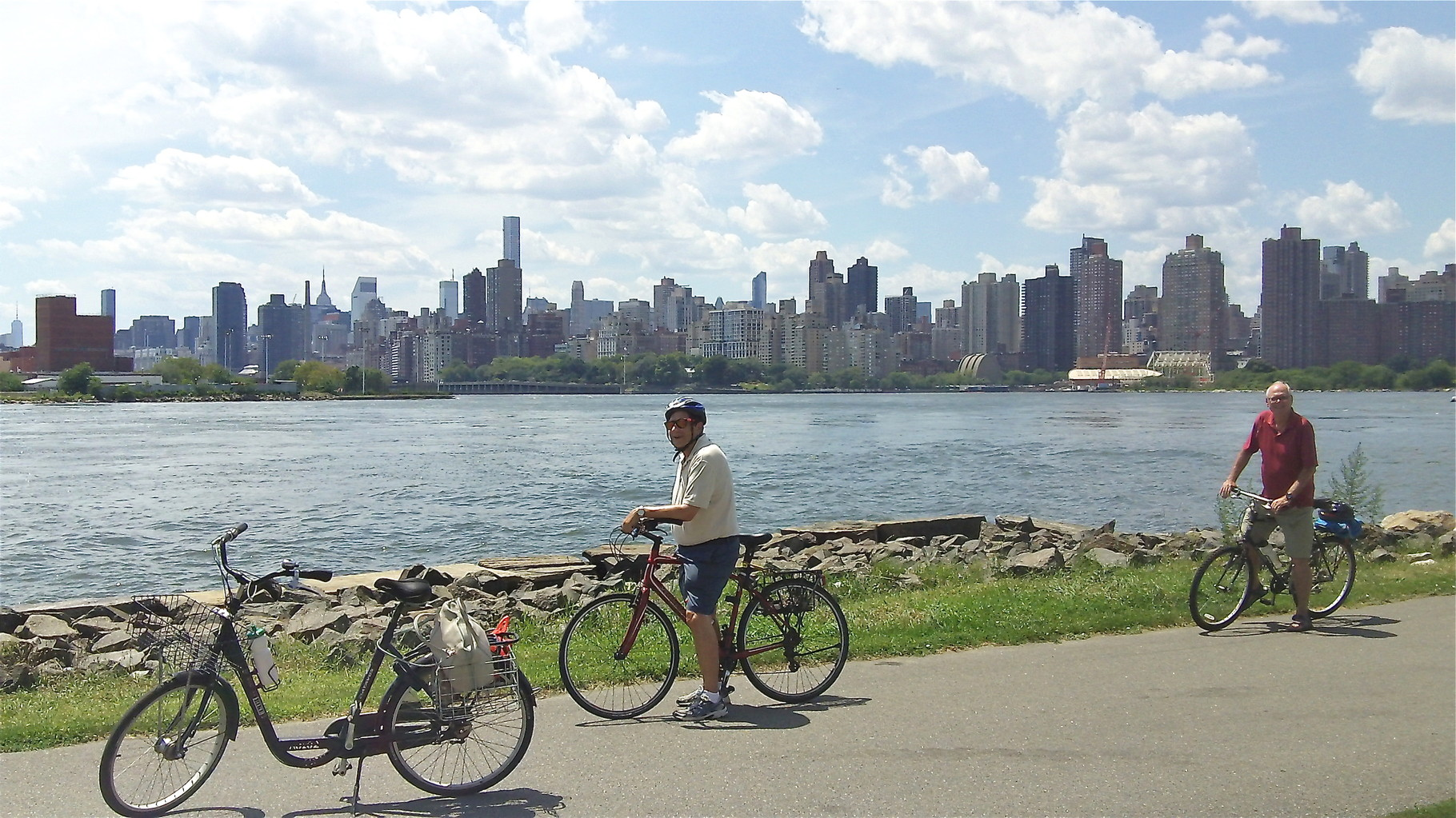 John & Bernd on Randall's Island biking