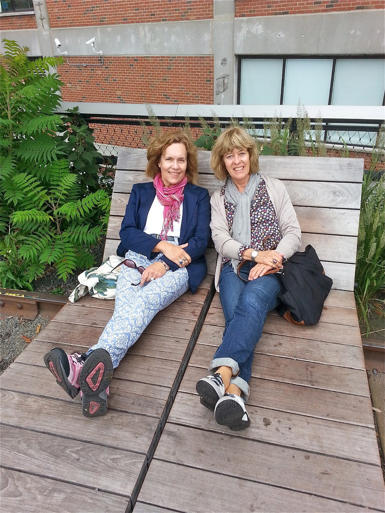 Lorraine & Nancy on the High Line, NYC  Oct. 2013