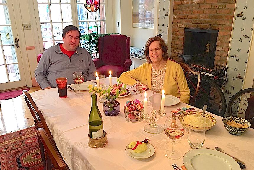Greg & Lorraine, Easter dinner, 4-12-20