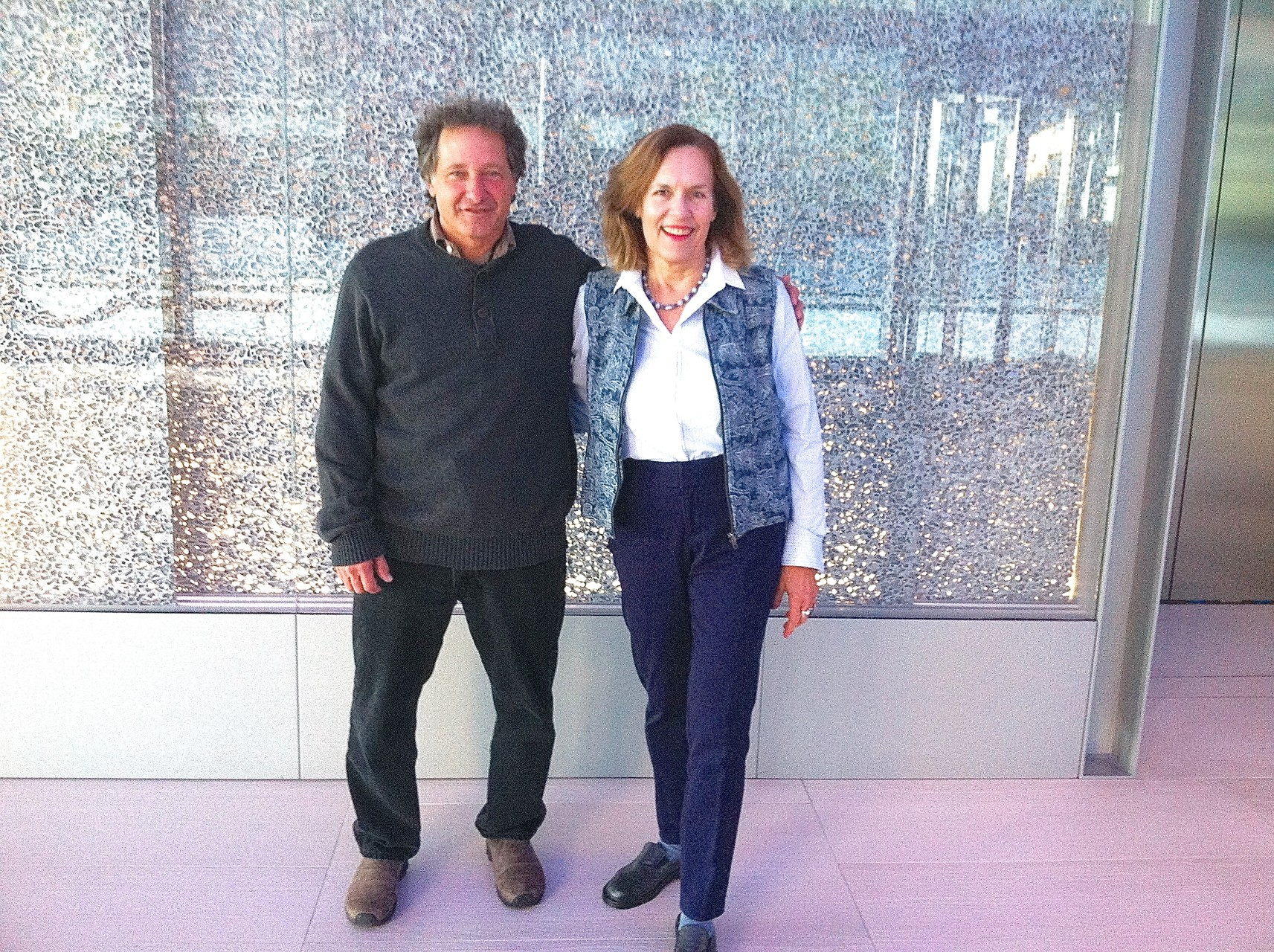 Dr. Joseph Grippo and Dr. Lorraine J. Gudas, at Roche Labs, Alexandria Center 10-26-15