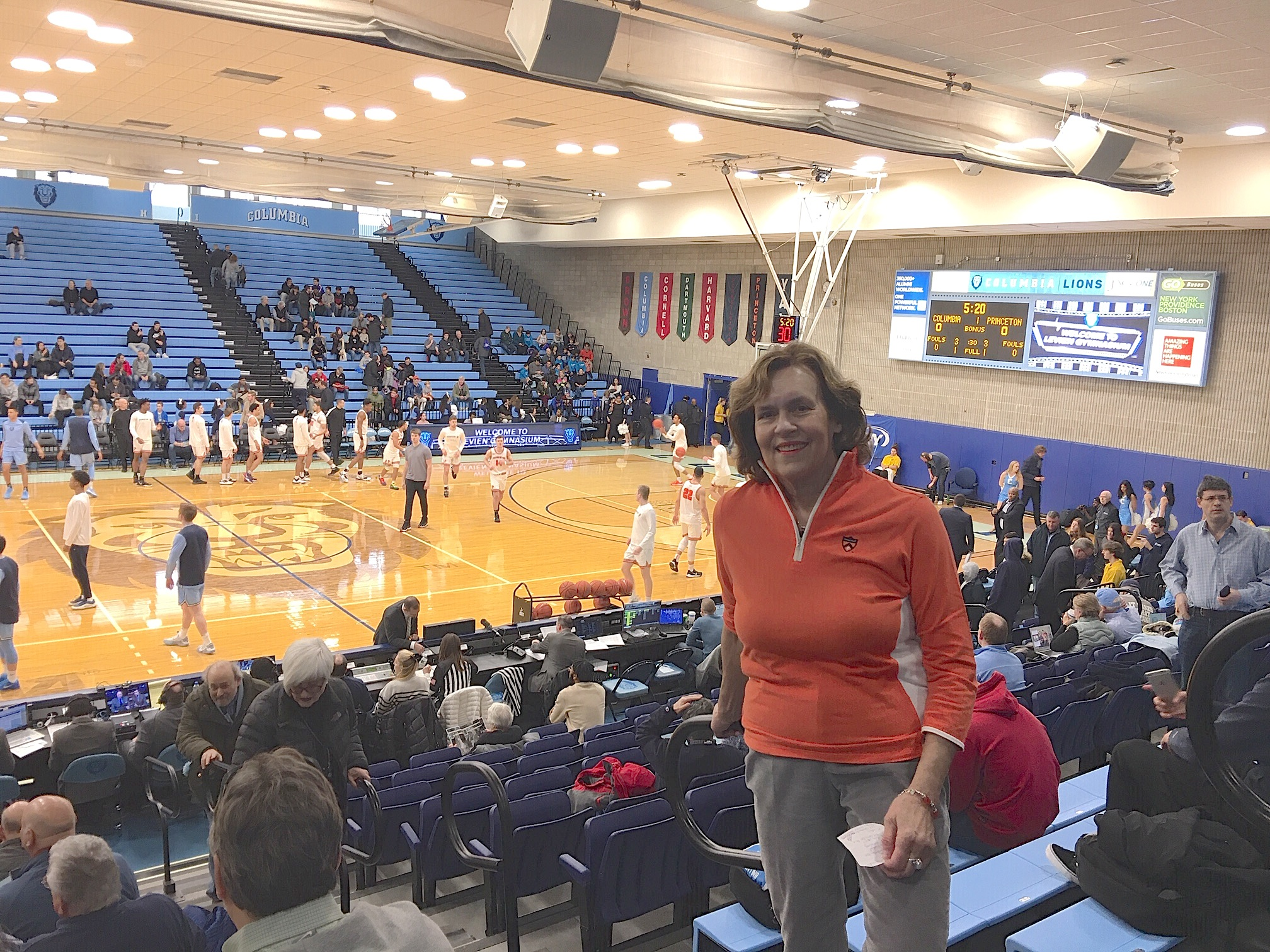 At the Princeton-Columbia basketball game, Feb. 9, 2020..Princeton won!!