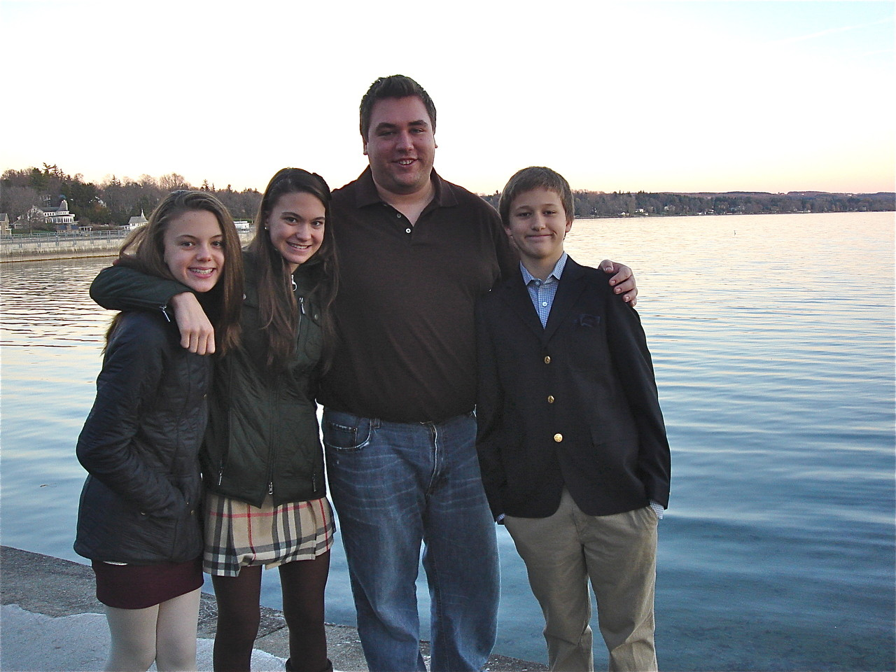 Thanksgiving, November 22, 2012.  Kate, Ellie, Greg, & Jack.