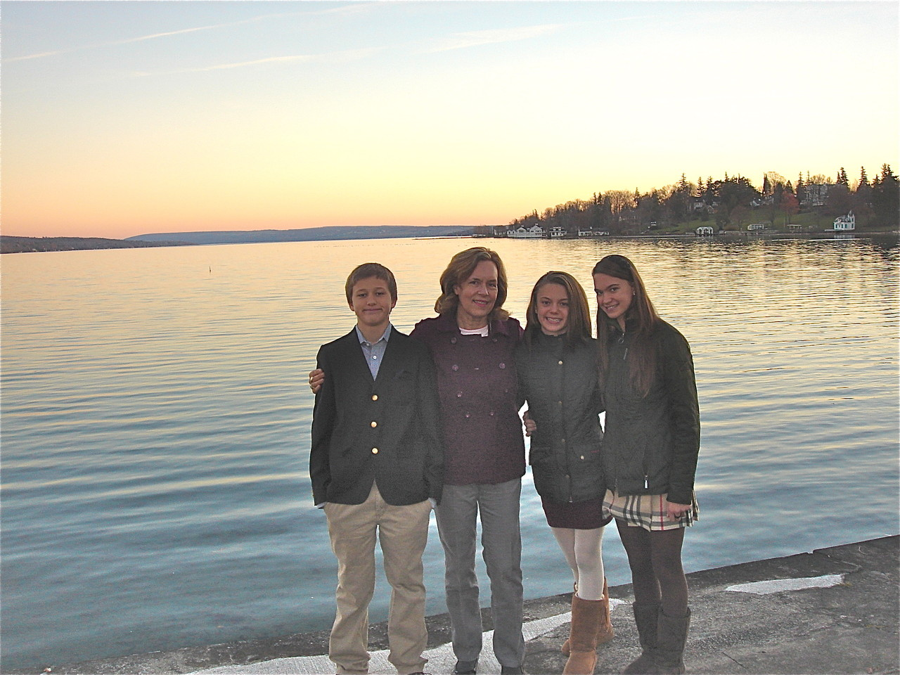 Jack, Lorraine, Kate, & Ellie, Skaneateles Lake, Thanksgiving, 2012.