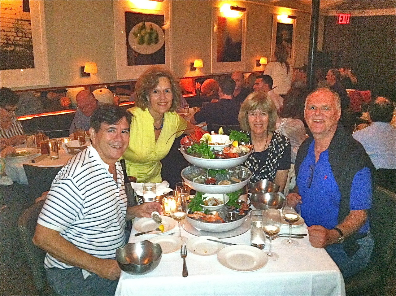 Nancy Hynes & Bernd Groner's Visit to NYC, October 3-7, 2013 At the Atlantic Grill, Seafood Tower!