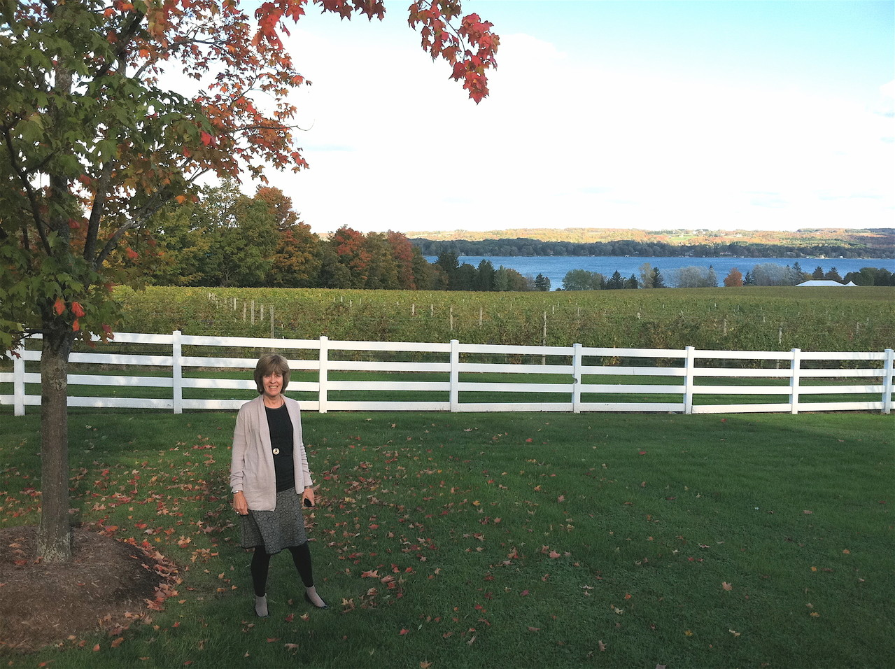 Nancy at Skanteateles Lake, Oct. 6, 2012