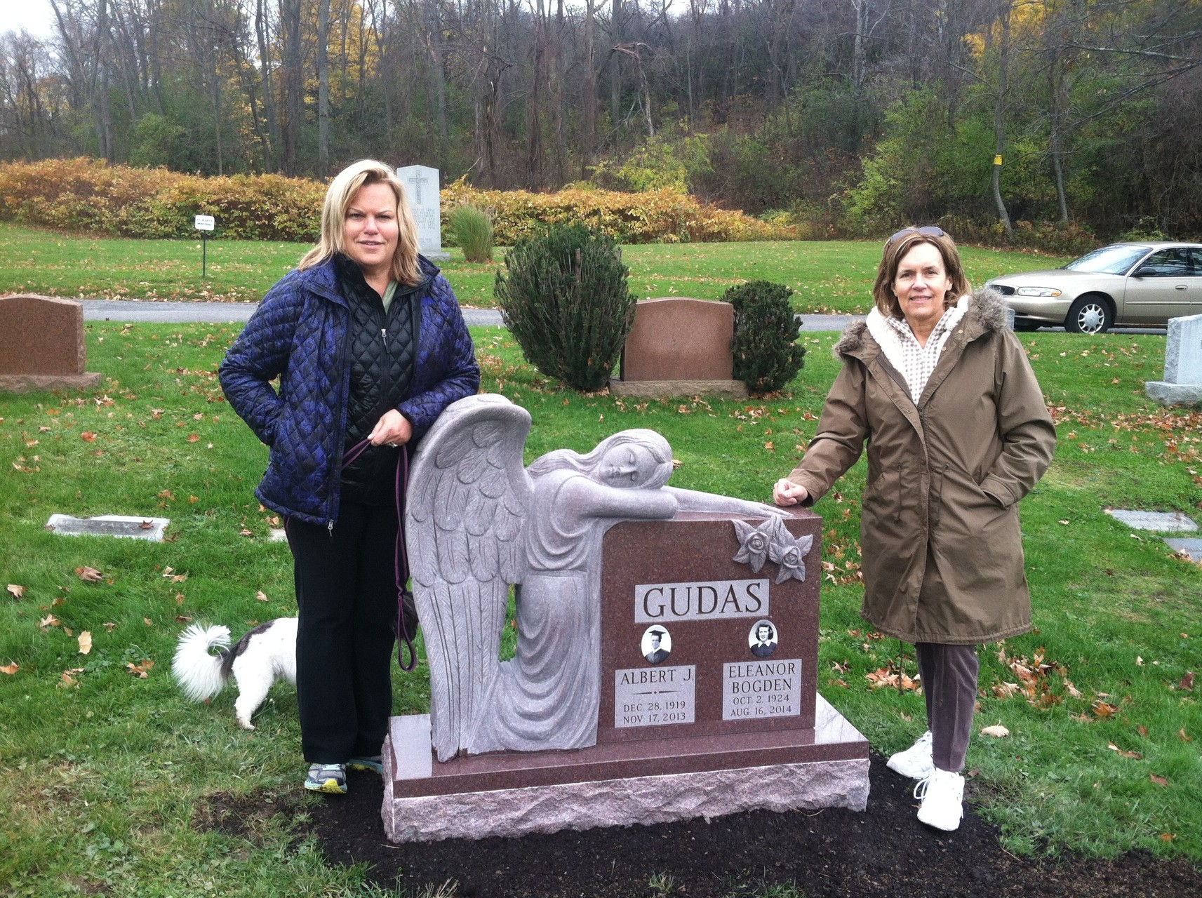 November, 2014, Celeste & Lorraine  gravestone is completed and in place