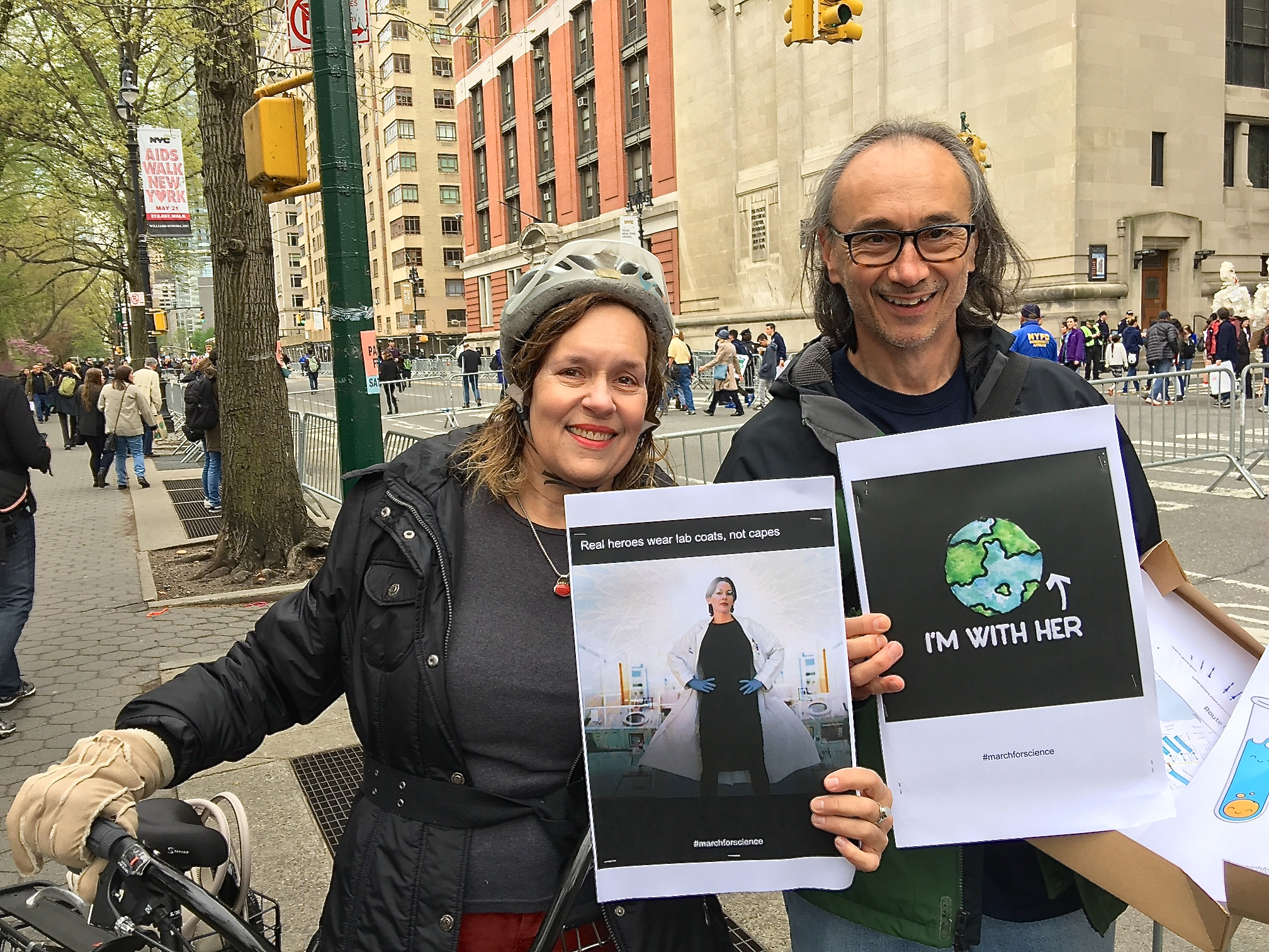 Lorraine Gudas & John Blenis at the March for Science