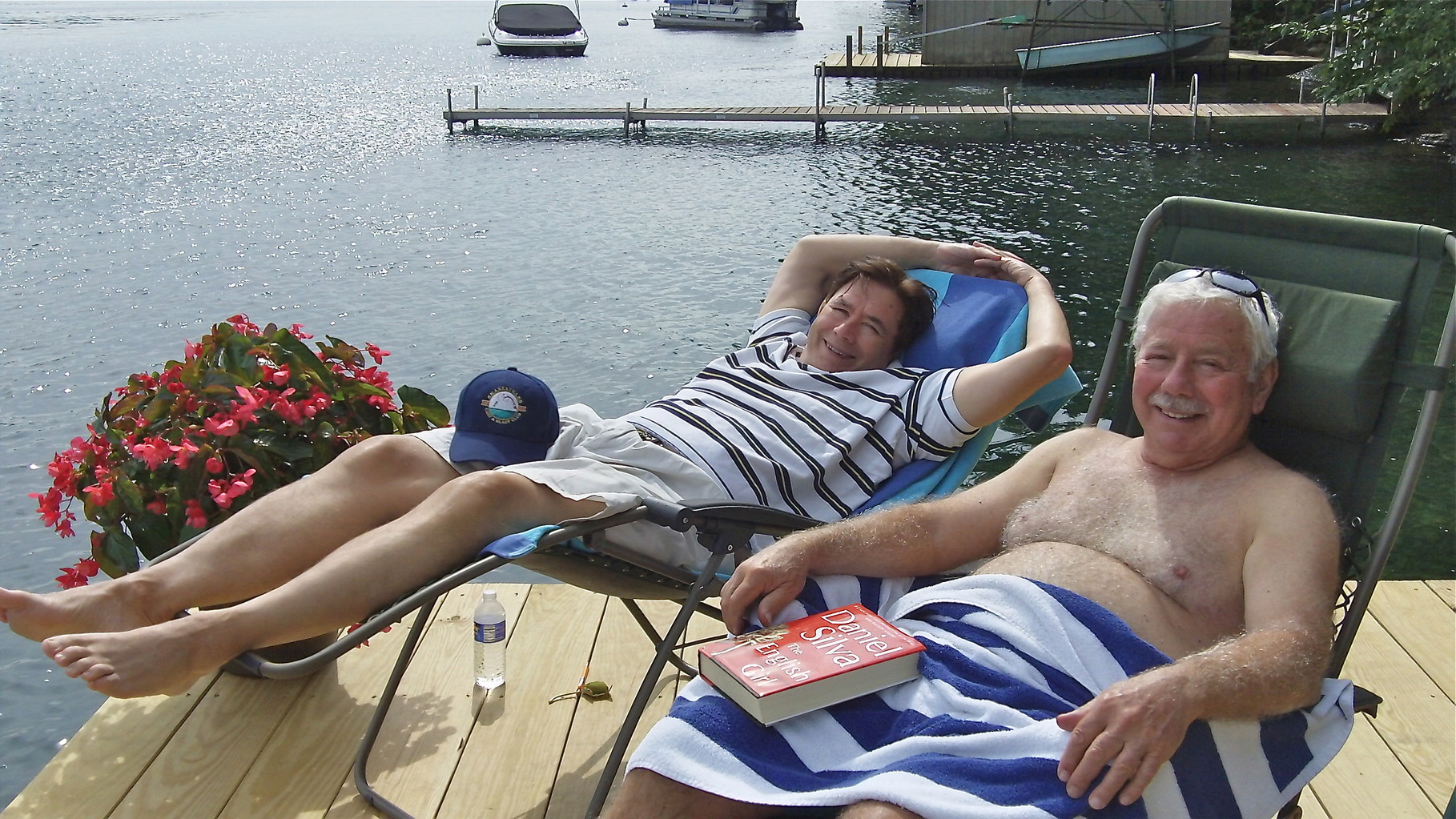 While John & Don rest on the dock!!