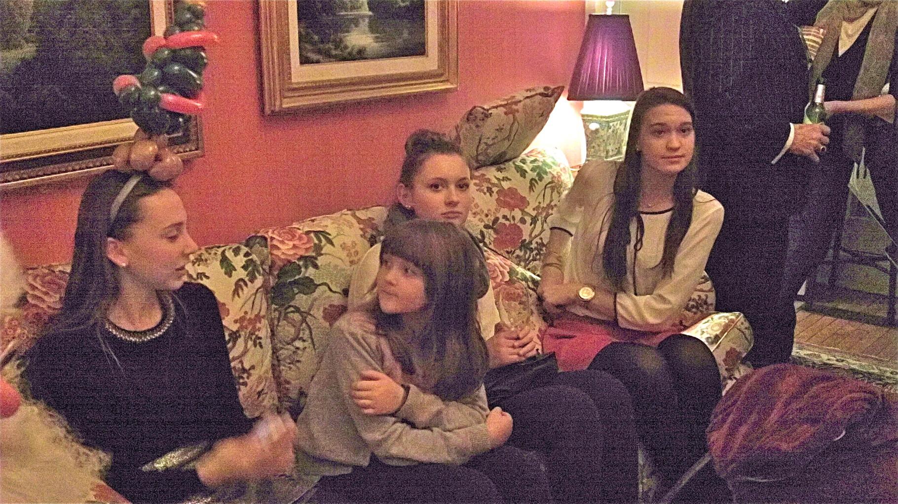 Gabby, Molly (Liz Cherot's daughter), Molly's babysitter & Ellie K.