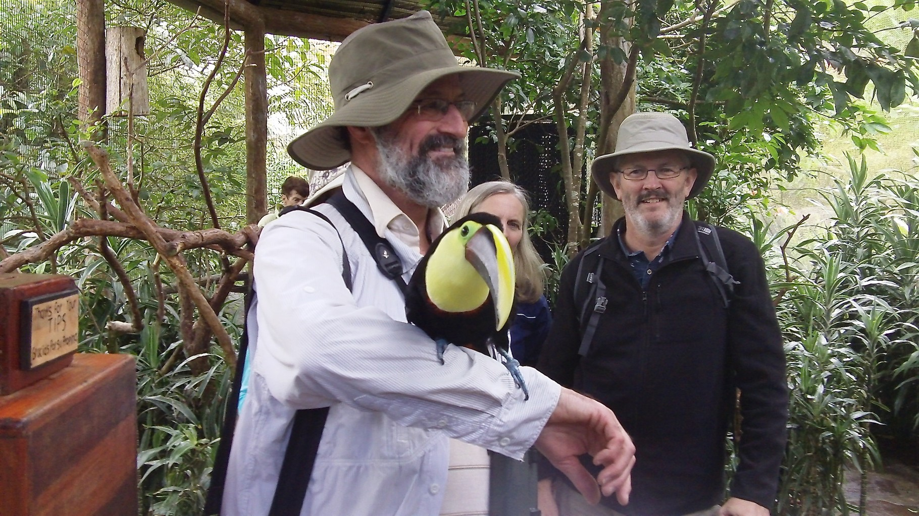 Rich Neubig with toucan