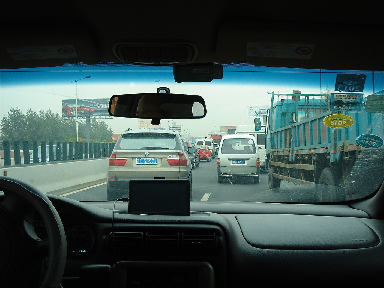 Traffic jam, Shanghai, China