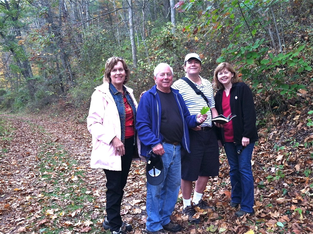 Lorraine, Don, John, & Barbara hiking!