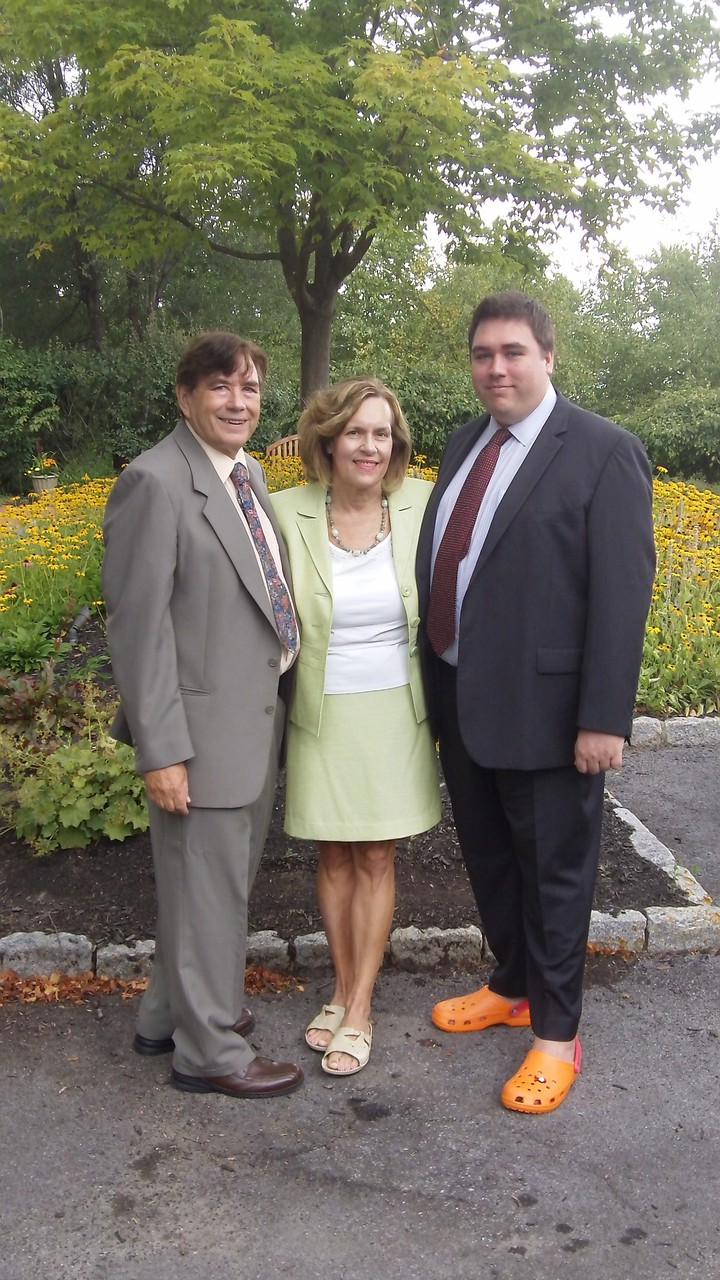 John, Lorraine and Greg August, 2015