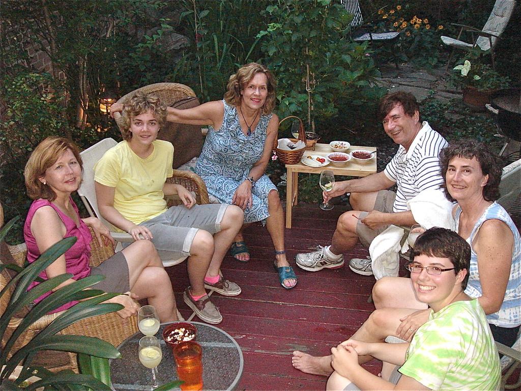 Barbara, Kathleen, Lorraine Gudas, John Wagner, Ann Ackerman, Emilea
