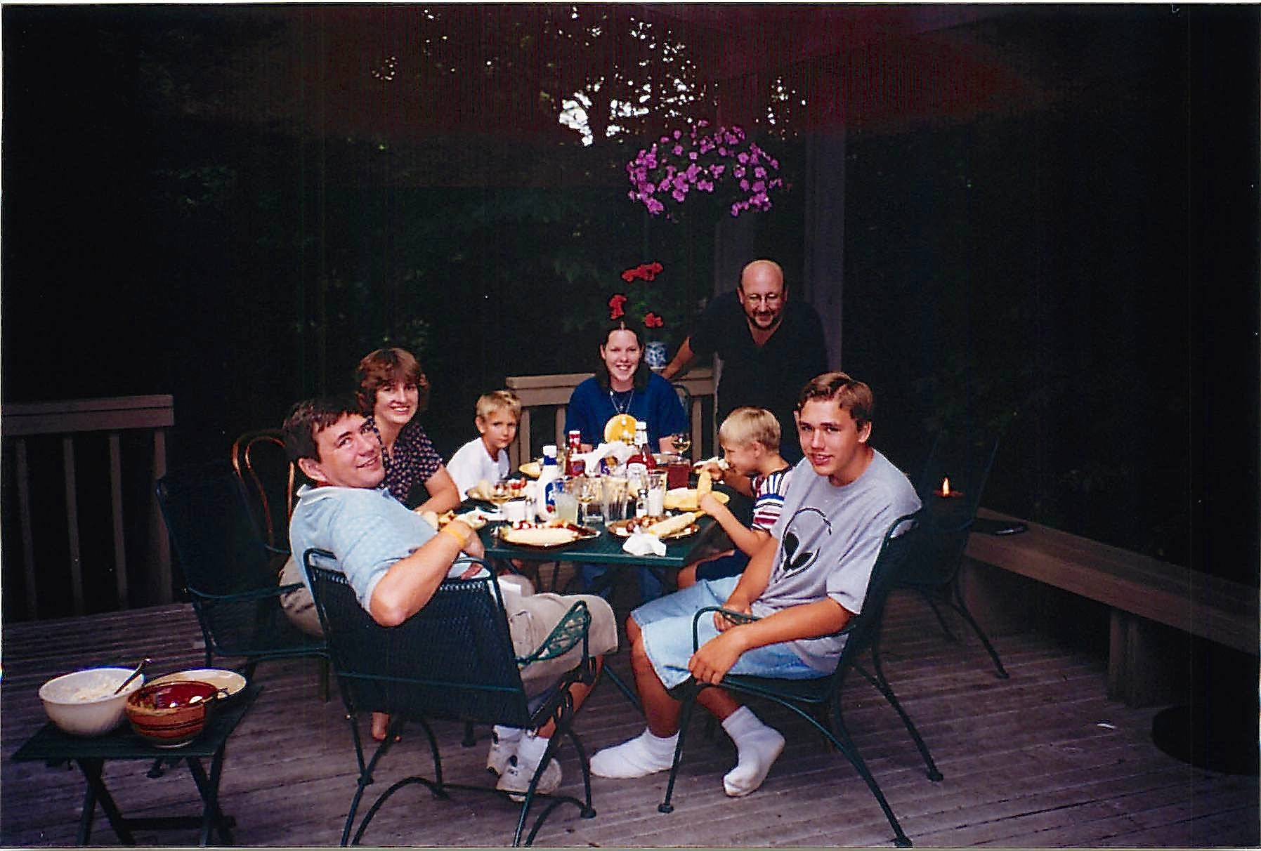 John, Sandra, Steve, Greg & Evan and Alan 1998