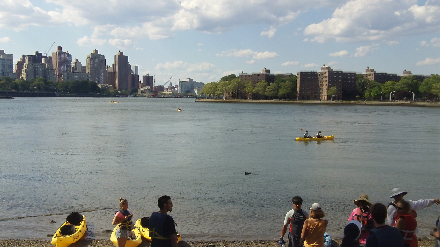 Beach on the East River near Socrates Sculpture Garden