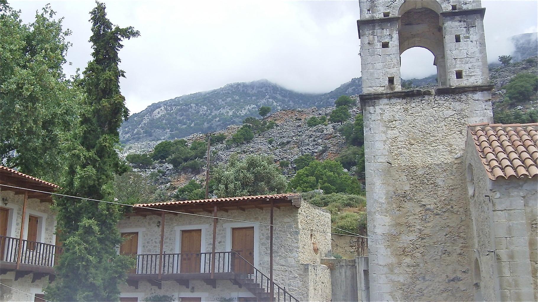 Monastary Vrondisiou, near Zaros, Crete; near Rouvas gorge and springs