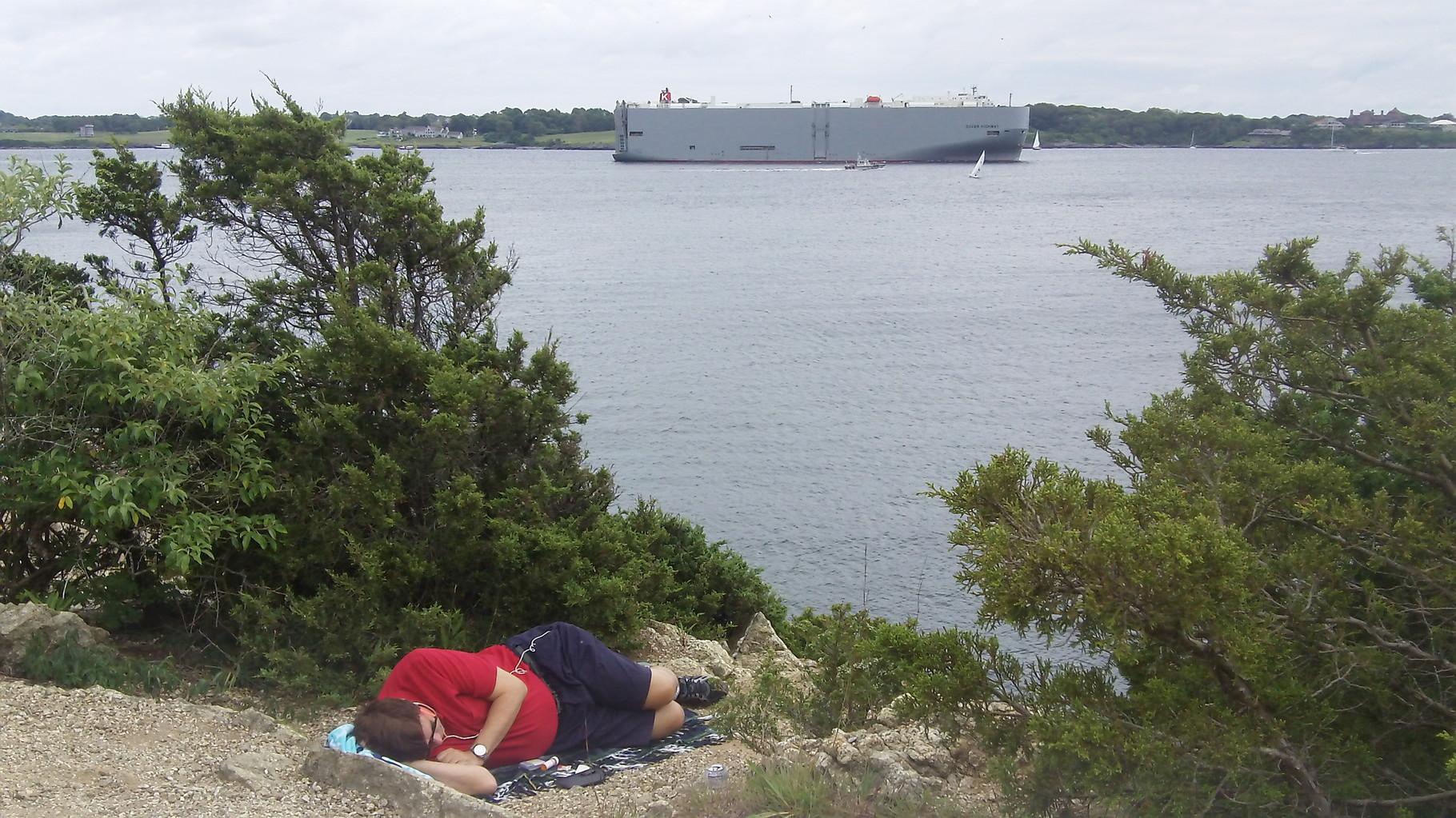 John relaxes in Jamestown