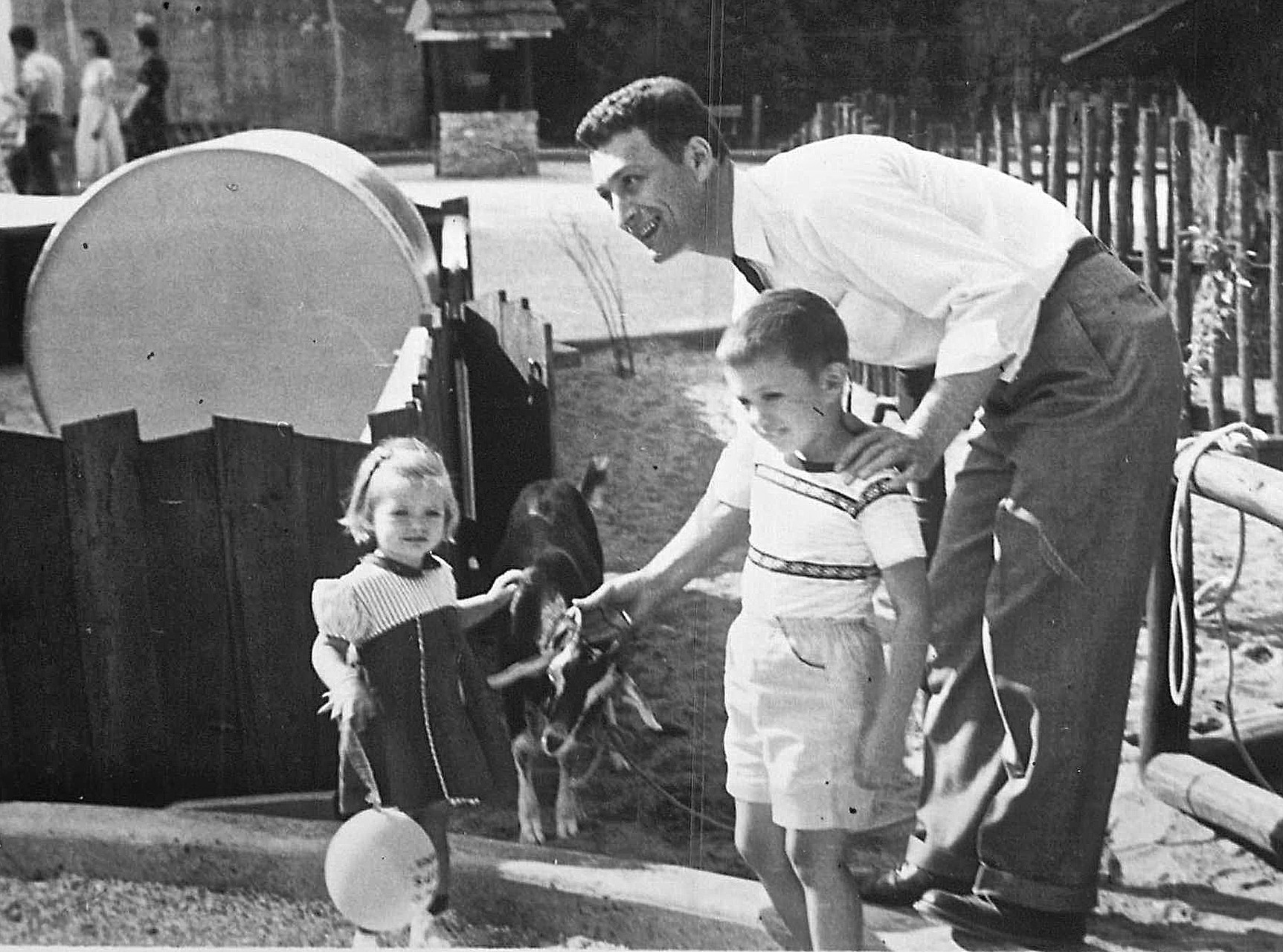 Cindy & John with their dad, Jack Wagner  1950s