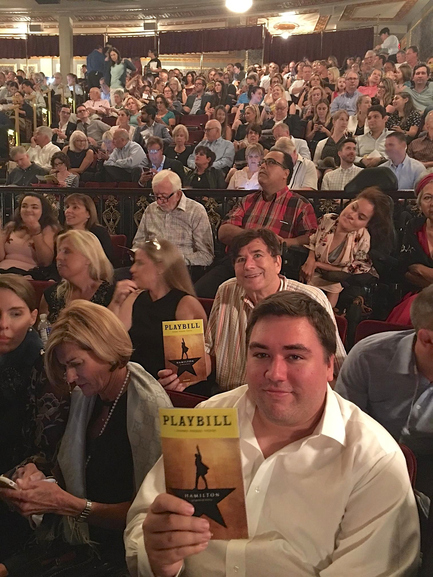 Greg, John, & I see HAMILTON on 9-26-17. Fabulous play...