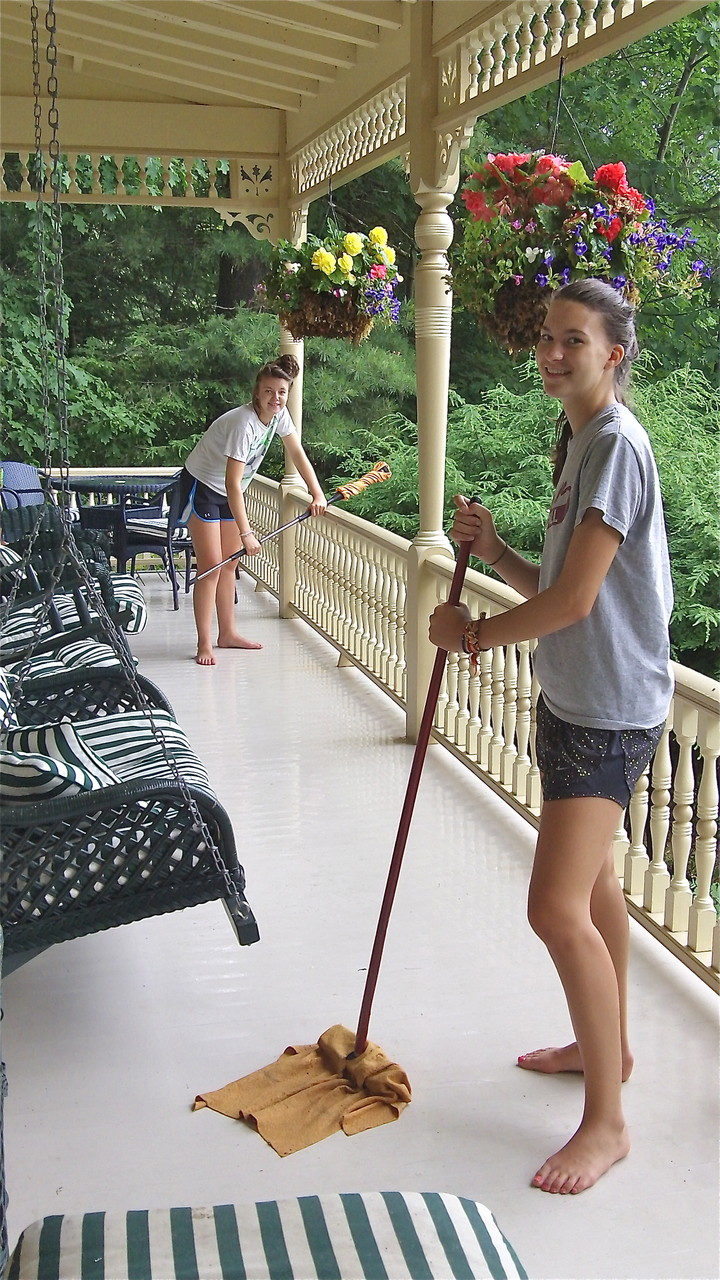Kate & Ellie:Cleaning Crew Extraordinaire! Skaneateles Lake