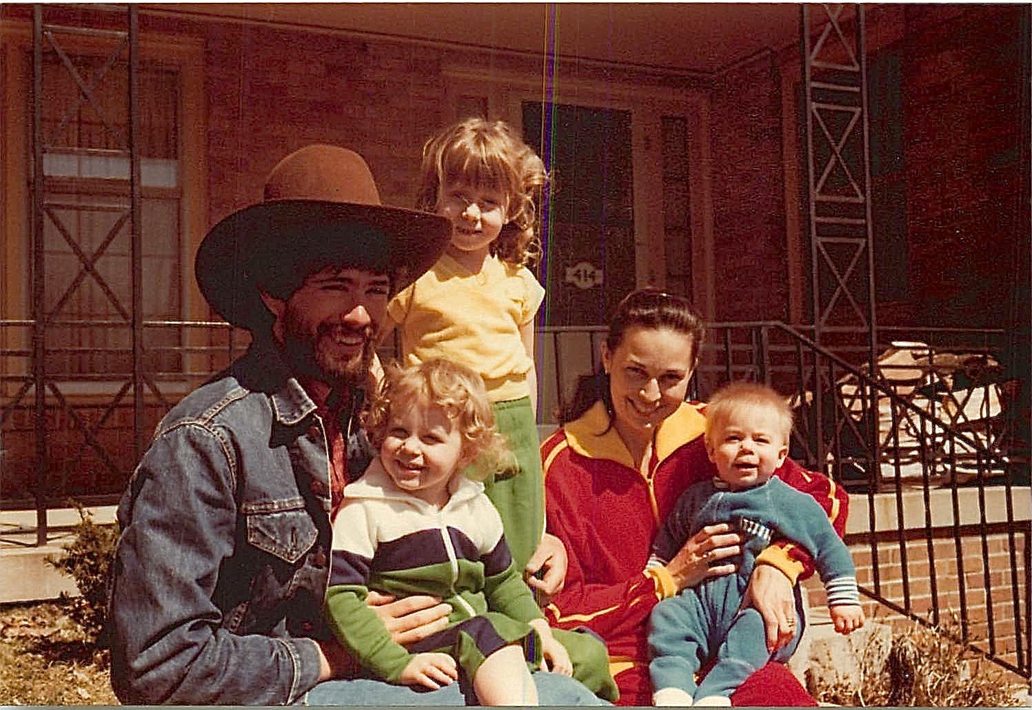 John Wagner, Katy, Sara, Claudia & Timmy; Claudia is John's cousin; Iowa 1980