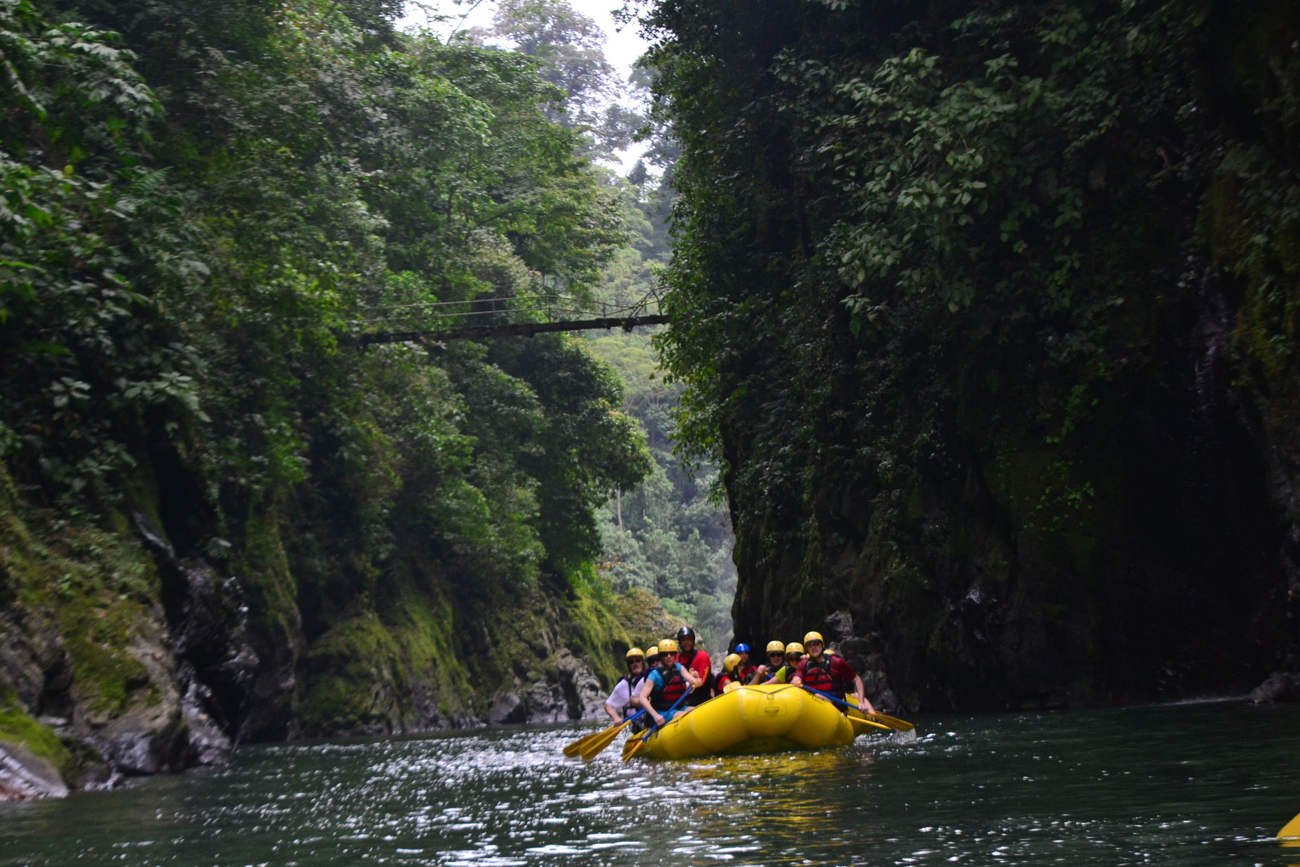 Beautiful Pacuare River canyon