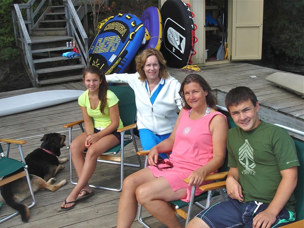 Sara, Lorraine, Cyndi, & Trevan  8-2012