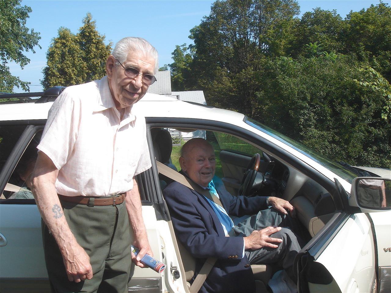Leo Smorel &  Al Gudas, ~ 2009 at Leo's house