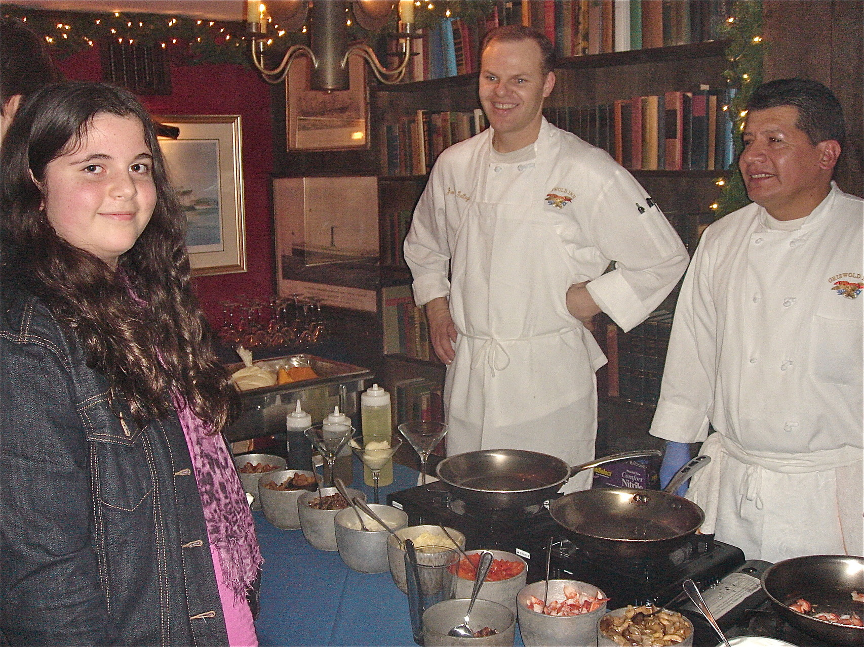 Isabelle Cherot at the mashed potato station