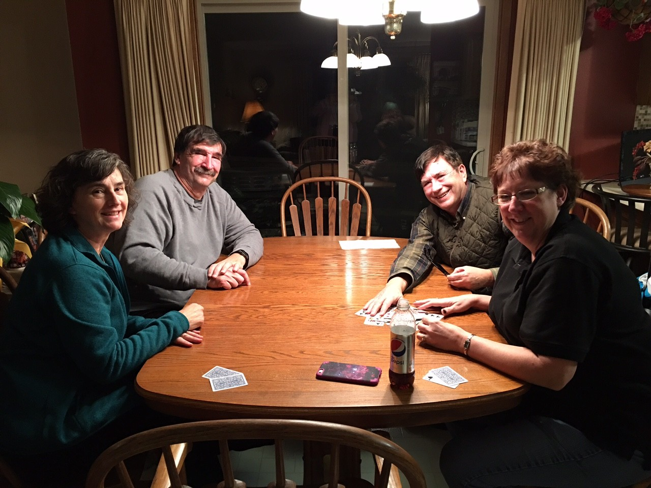 Playing Euchre in Grinnell