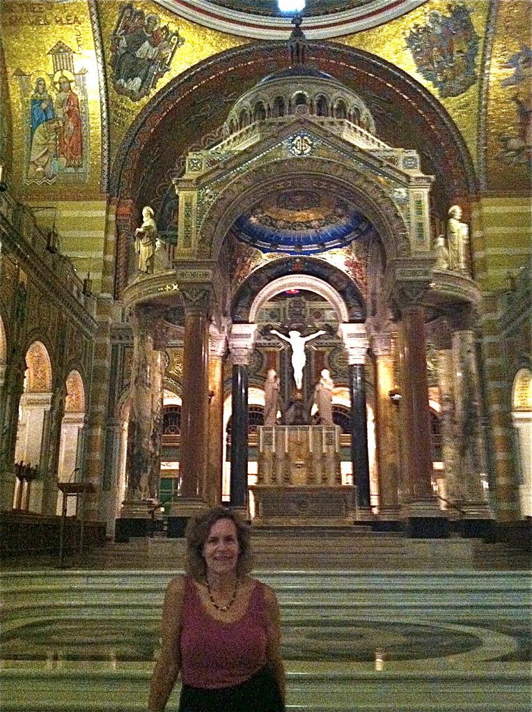 Lorraine at the Basilica Altar