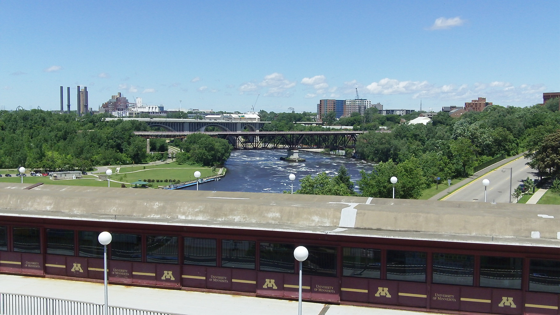 Univ. of Minnesota, Minneapolis campus bridge above the Mississippi River.