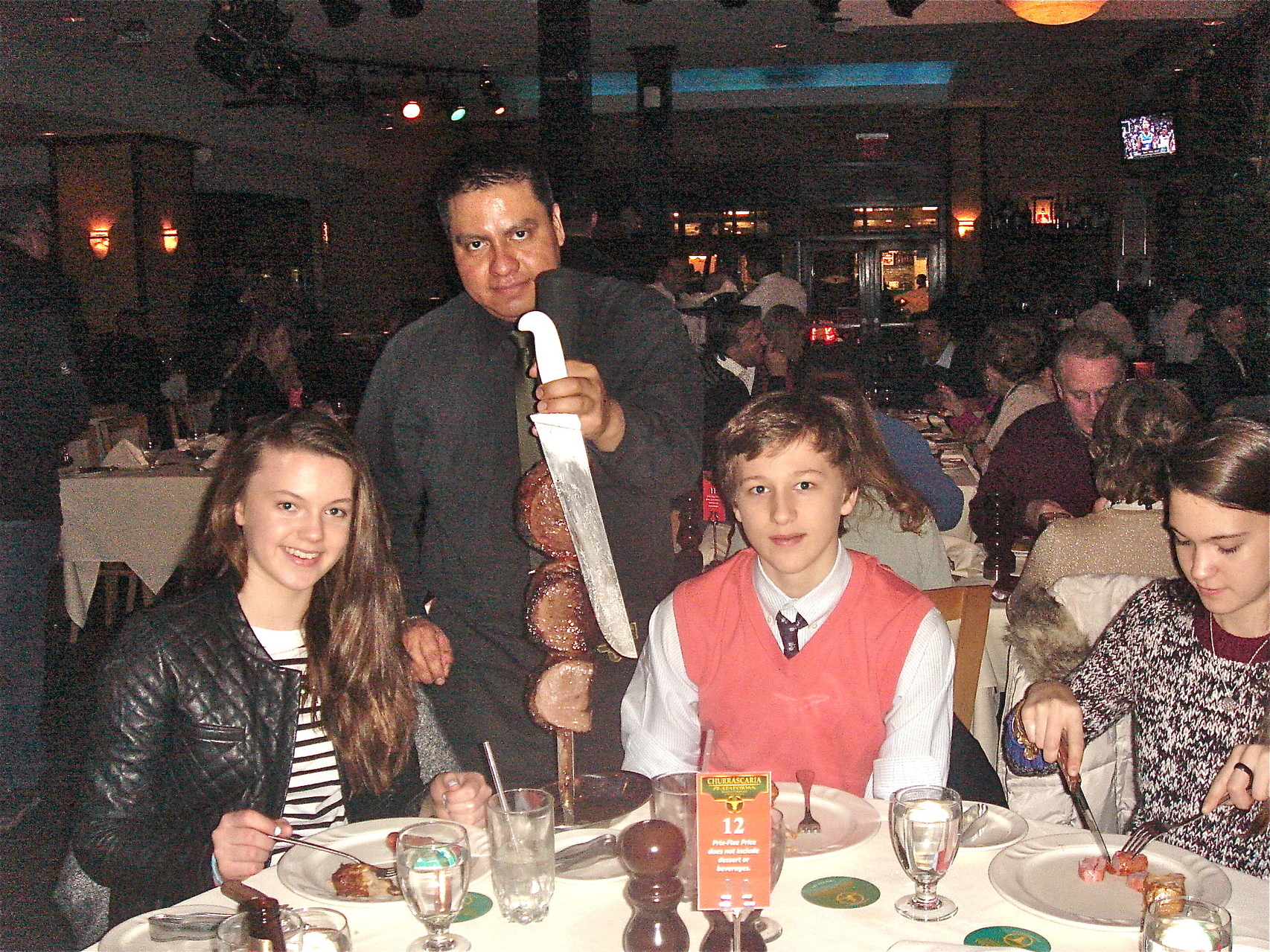 March 1, Celebrating Kate & Jack's 13th birthdays with dinner and the theatre, Phantom of the Opera